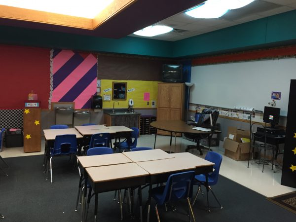 Classroom Organizing Makeover- Click here to read about this classroom makeover!