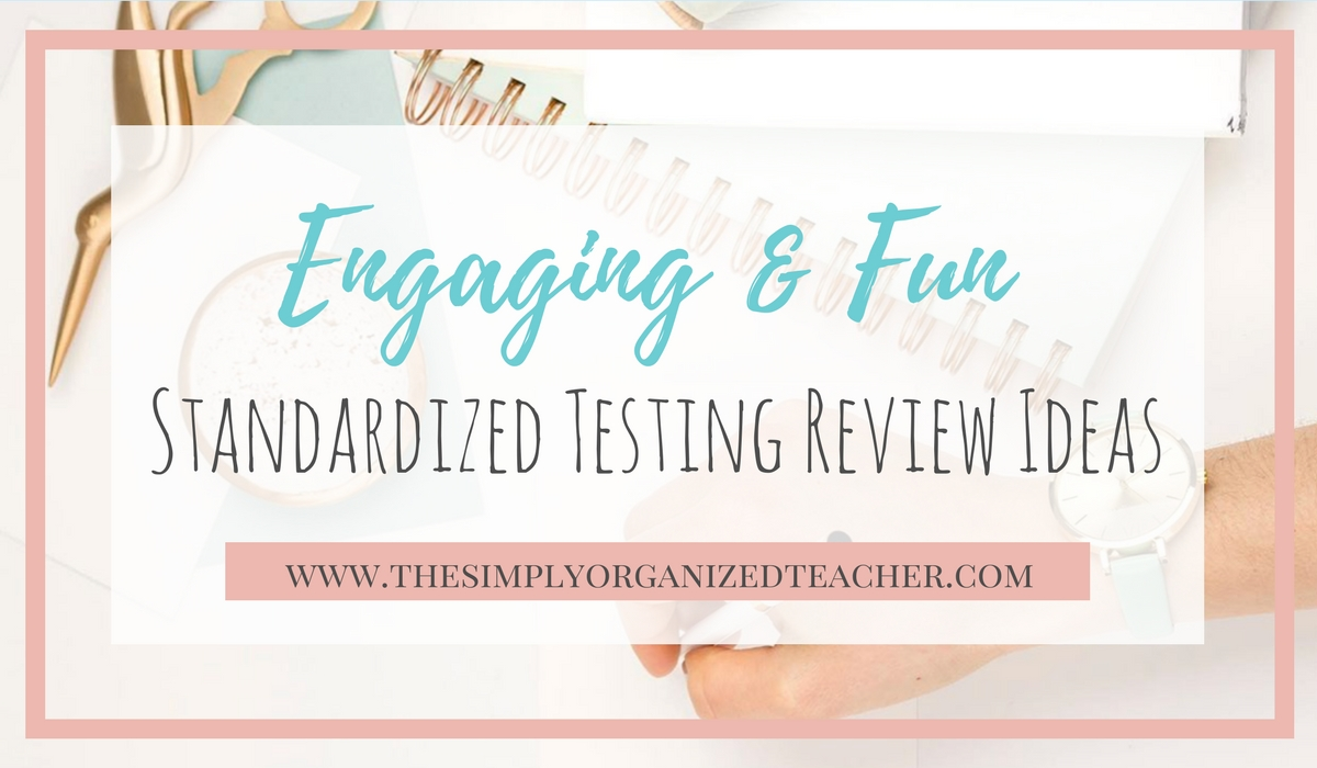 Standardized Testing Review Activities
