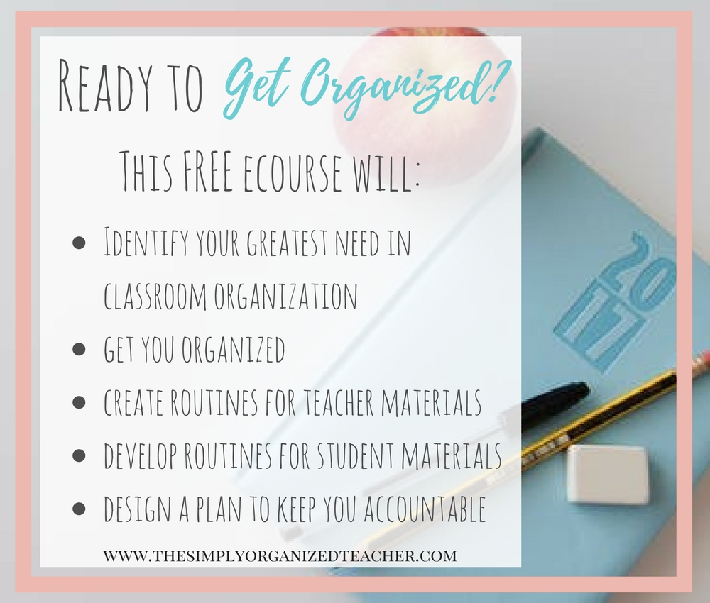 Get your classroom organized through this free ecourse