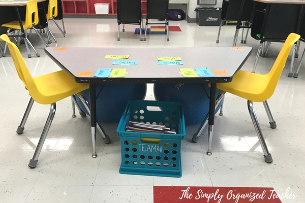 Flexible Seating and cooperative learning ideas in an elementary classroom.