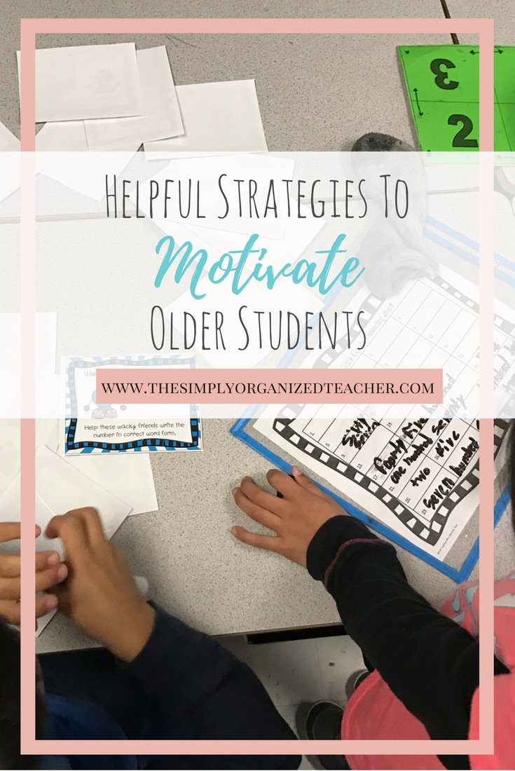 Ideas and strategies to help engage and motivate older students